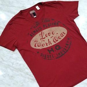 Diesel Burgundy T Shirt